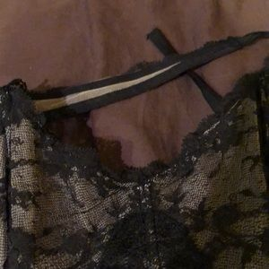 Victoria's Secret Intimates & Sleepwear - Sexy Victoria's Secret corsette tie neck top sz L